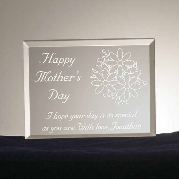 mothers day bouquet personalized plaque engraved mother s day plaque