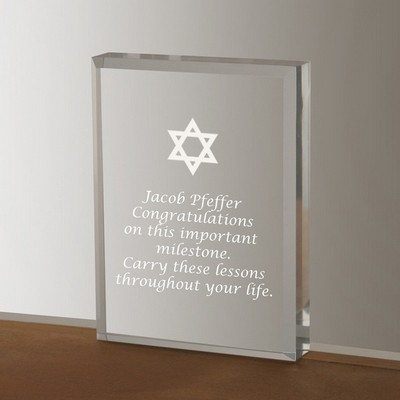 Silver Star of David Acrylic Keepsake