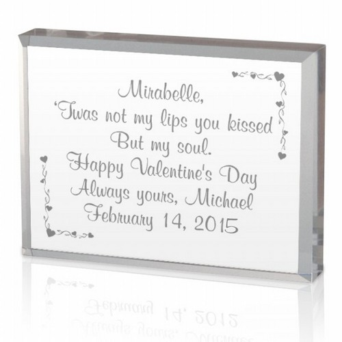 Your Special Valentine Message on a Plaque