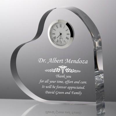 Personalized Medical Keepsake Clock Heart Plaque