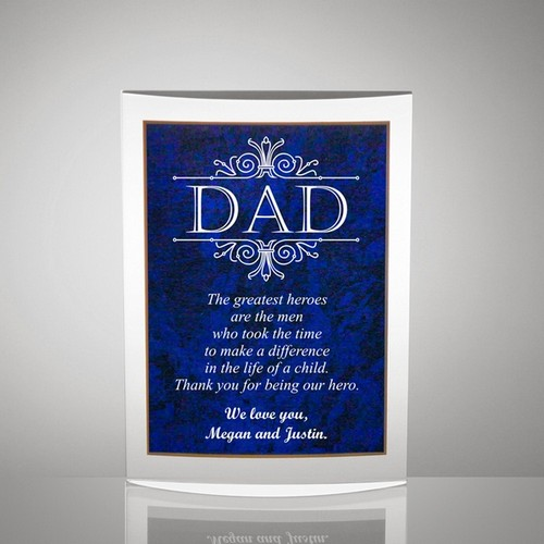 Handsome Dad Gift Plaque with Poetry Inscription