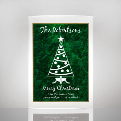 Family Christmas Tree Plaque