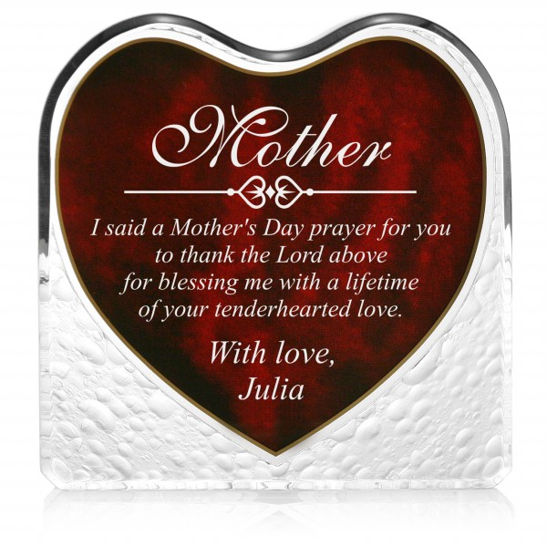 Personalized Mother S Day Heart Plaque Engraved Plaque