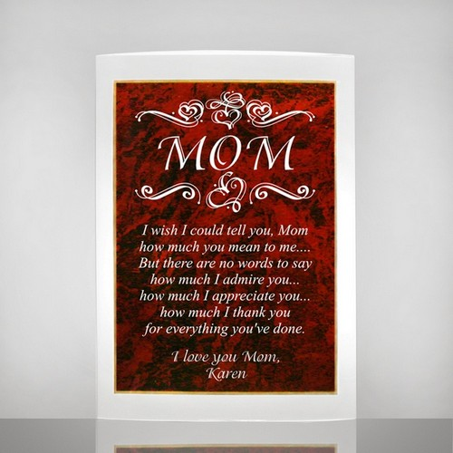 Exquisite Mom Gift Plaque  with Poetry Inscription