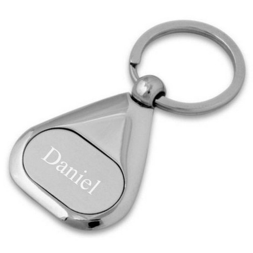 Matte Silver Triangular Key Chain - ON CLEARANCE WHILE SUPPLIES LASTS
