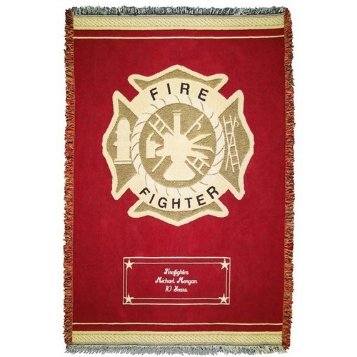 Firefighter Cotton Throw