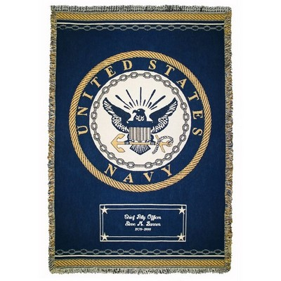 Navy Cotton Throw