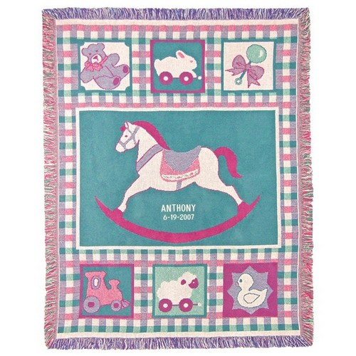 Rocking Horse 3 Ply Cotton Afghan