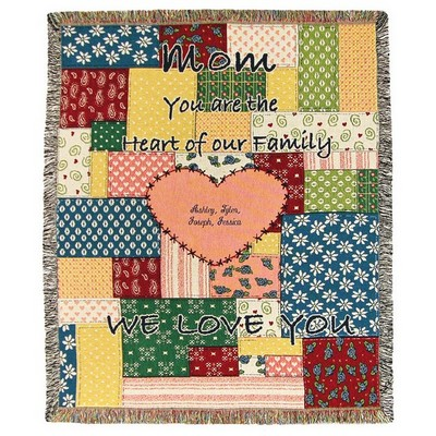 Mom Heart of the Family Tapestry