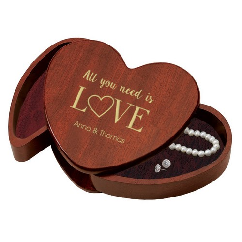 All you need is Love Heart Shaped Keepsake Box