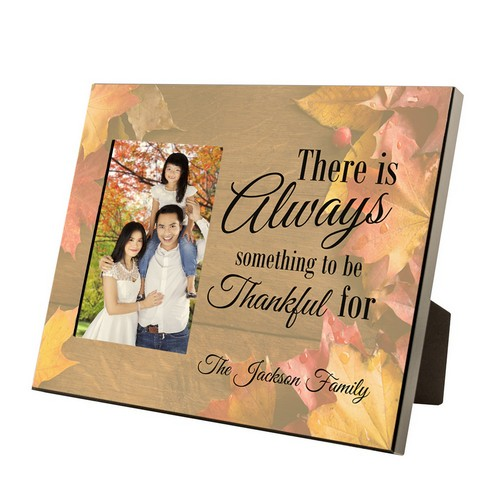 Always Thankful Personalized 4x6 Family Photo Frame