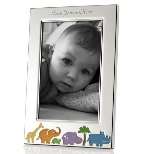 Customized 4x6 Animal Jungle Baby Picture Frame