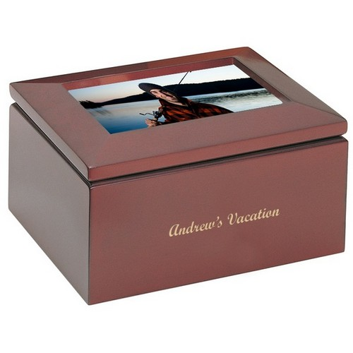 Personalized Keepsake Box with Picture Frame