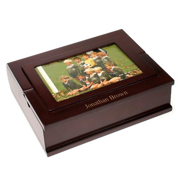 Personalized Wood Stationery Box Customized Framed Photo