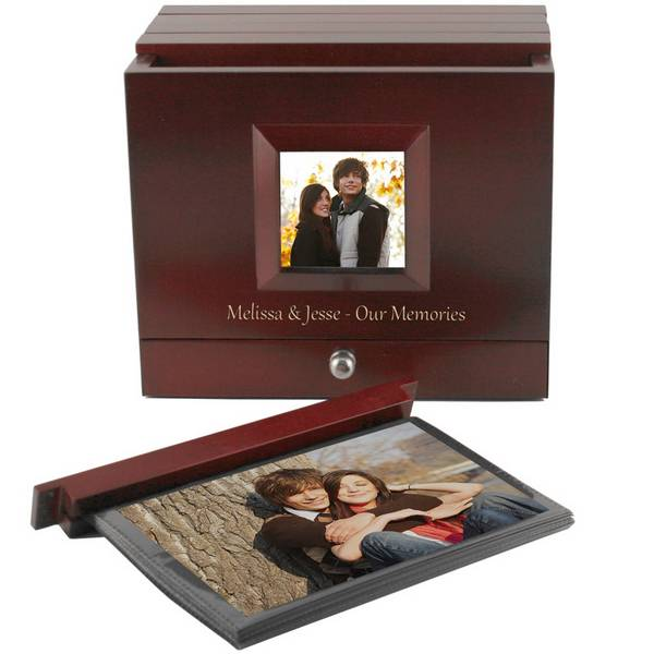 Boxed Photo Albums: Boxed Photo Album With Front Frame