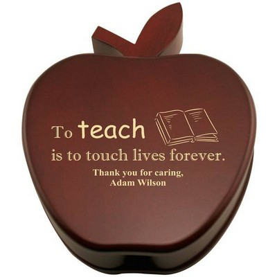 Special Teacher Apple Keepsake Box