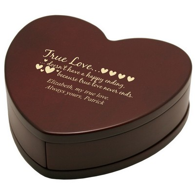 Solid Rosewood Sweet Treasures Heart Shaped Gift Box