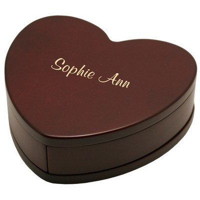 Solid Rosewood Heart Shaped Treasure Box