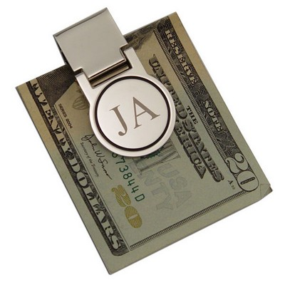 Circular Silver Money Clip