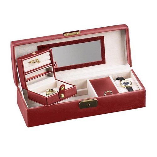 Stunning Red Leather Jewelry Case