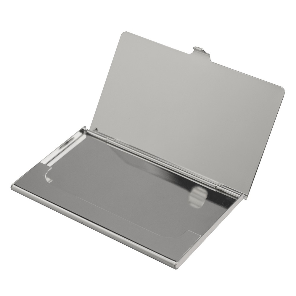 silver business card case with logo - Metal Business Card Case