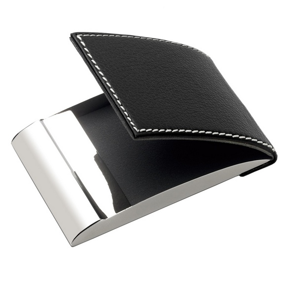 Personalized Leatherette Designer Vertical Business Card Holder In