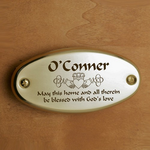 Claddagh Door Plate