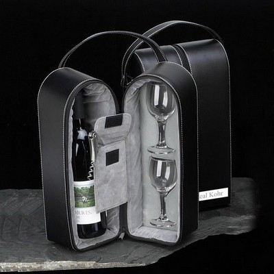 Leather Travel Wine Gift Set