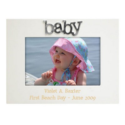 Baby Wood and Metal Photo Frame