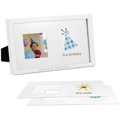 Baby Boys First Milestones Personalized Frame