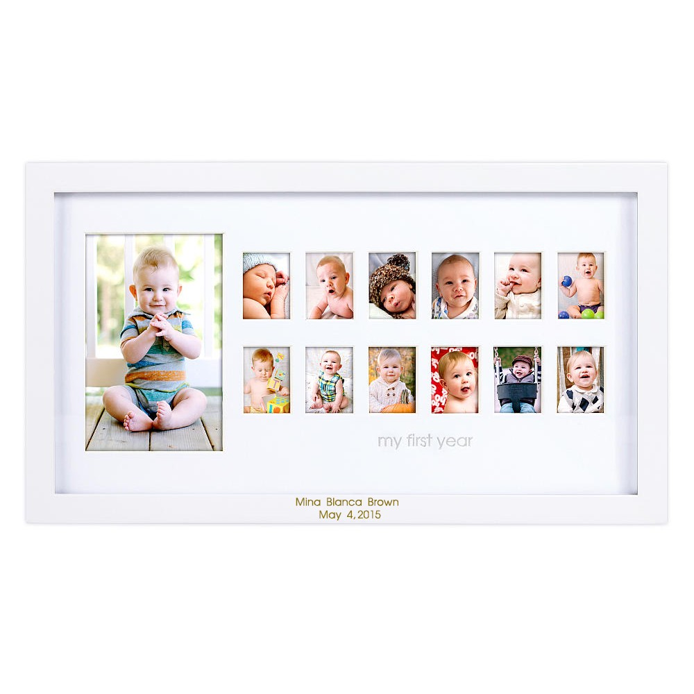 Baby Gift Ideas Under $30 : Babys first year personalized frame