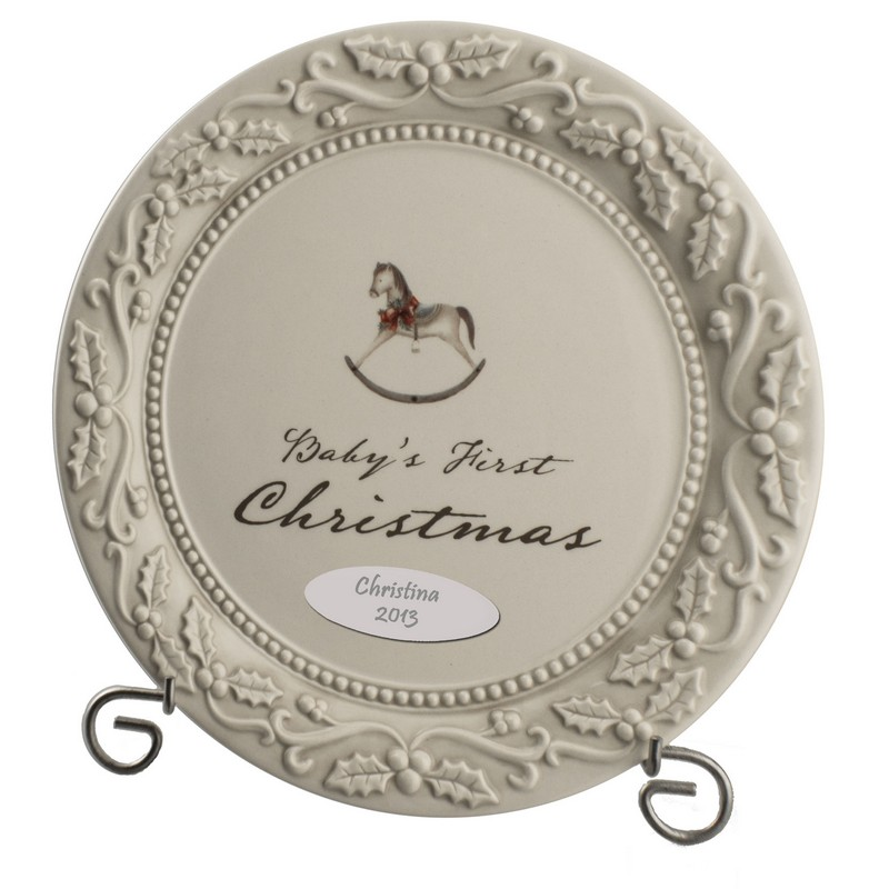 sc 1 st  Memorable Gifts & Babys First Christmas Personalized Keepsake Plate