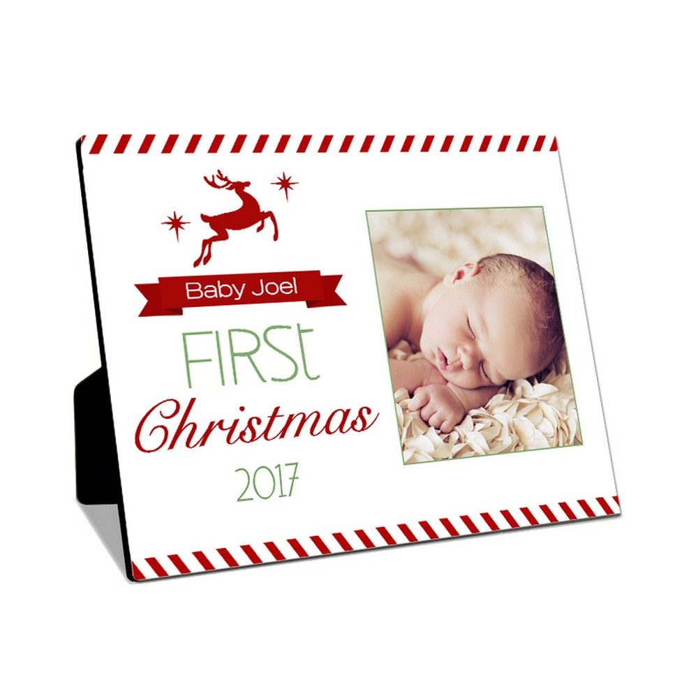 Babys First Christmas Table-top Photo Panel