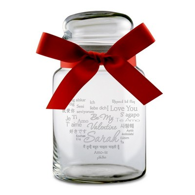 Be My Valentine Languages Personalized Candy Jar