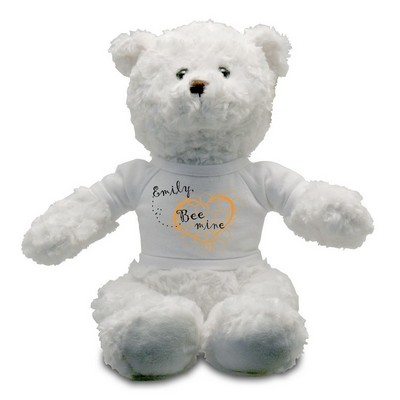 Bee Mine Personalized White Teddy Bear