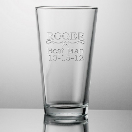 Best Man Customized Beer Glass