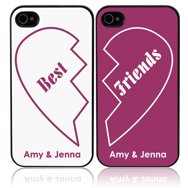 finest selection bb29d 72a6e Best Friends Personalized iPhone Case Set