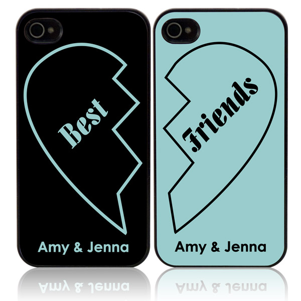 finest selection 354ad 32fc0 Best Friends Personalized iPhone Case Set