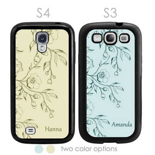 Blossom Personalized Galaxy S3-S4 Case