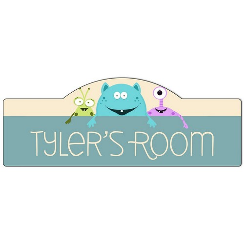 Boys Room Monsters Personalized Door Sign
