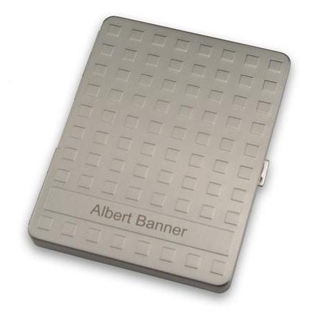 Sleek Silver Grid Cigarette Case