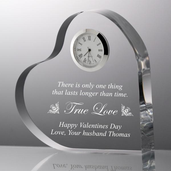 Heart Shape True Love Acrylic Clock