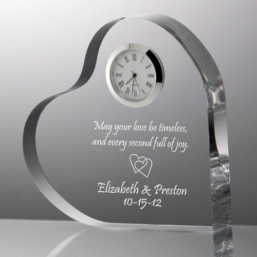Heart with Inlaid Quartz Clock