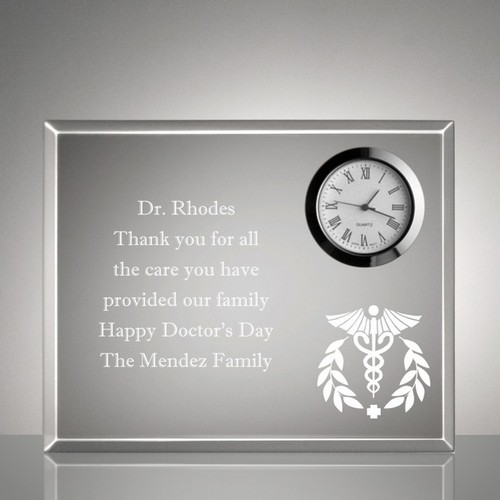 Medical Keepsake Clock Plaque