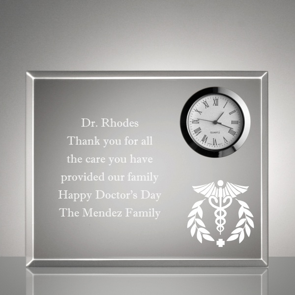 personalized medical keepsake clock plaque