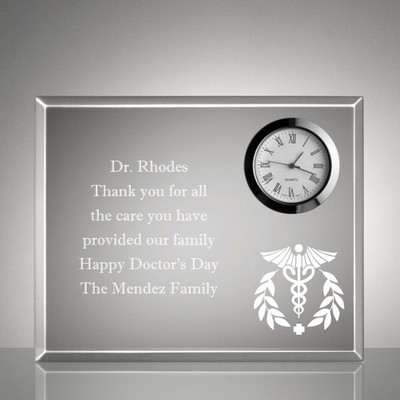 Personalized Medical Keepsake Clock Plaque