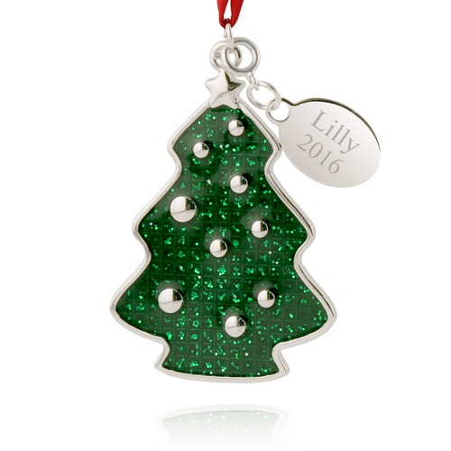 Glittery Christmas Tree Ornament