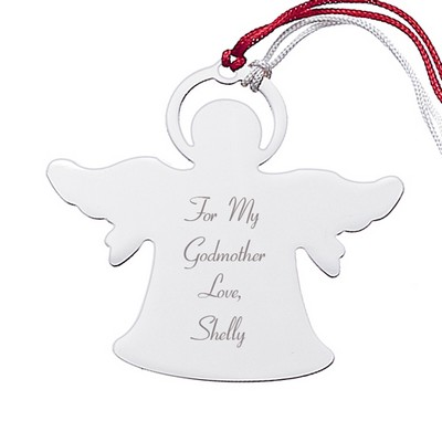 Personalized Silver Angel Ornament