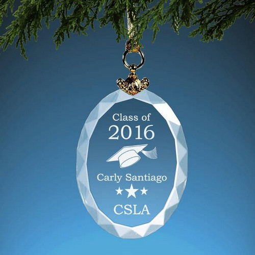 Personalized Graduation Crystal Christmas Ornament