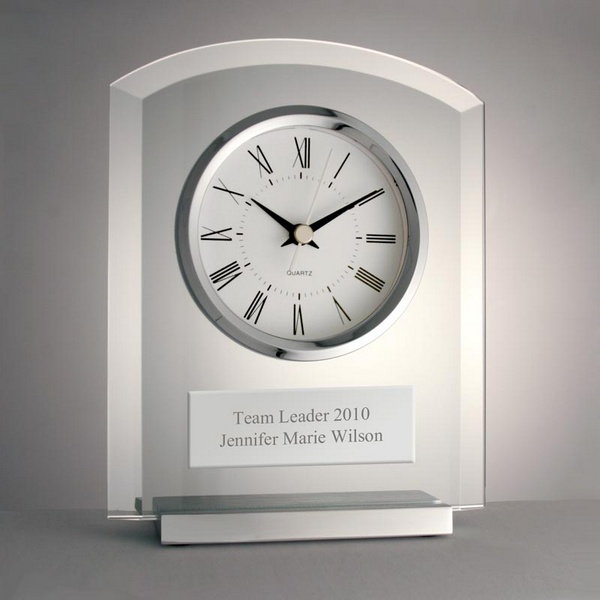 Timeless Elegance Glass Clock
